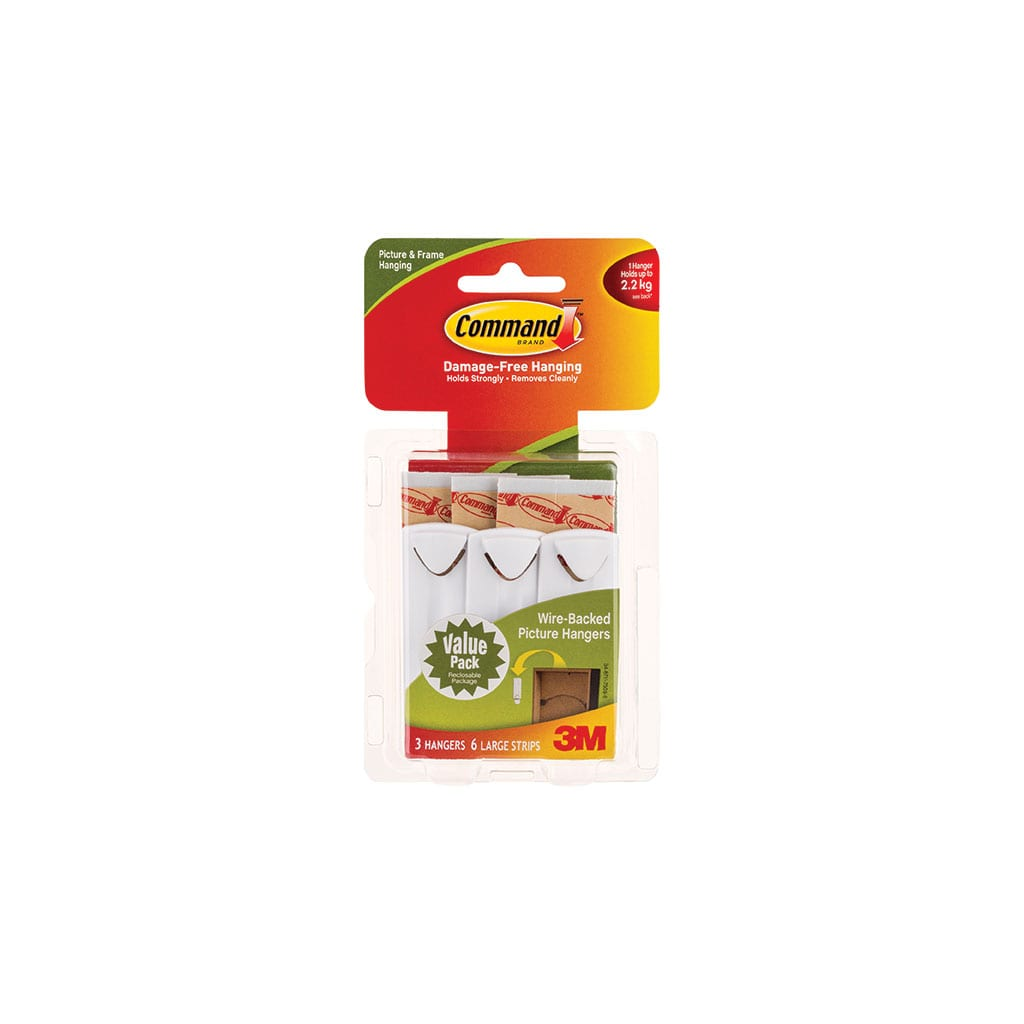 Command Wirebacked Picture Hook Value Pack 17043 Rokset