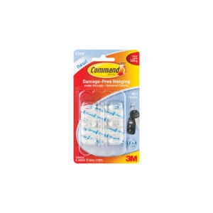 Command™ Clear Mini Hooks 17006CLR